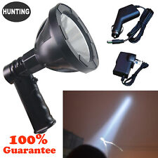 800W CREE Handheld Spot Light Rechargeable LED Spotlight Hunting Shooting 12V