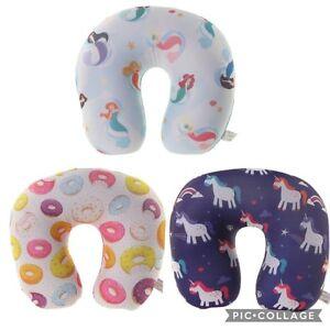 Travel Neck Pillow  Mermaid, Unicorns or Doughnut designs