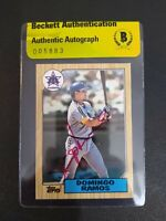 Domingo Ramos 1987 Topps #641 Signed Autographed Mariners Beckett BAS