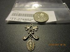 Vtg Sterling Silver Our Lady Of  Medal Pendant Charm