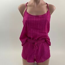 Victoria's Secret Cami Sleepwear Tank Top & Short 2pcs Set - Burgundy - S - NWT