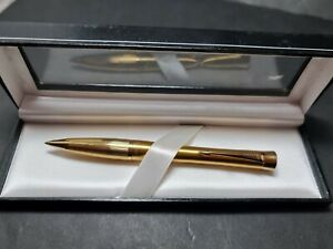 VINTAGE GOLD PLATED PARKER BALL PEN IN ORIGINAL BOX  GIFT VGC