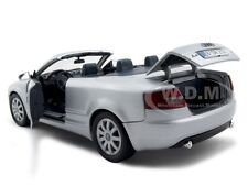 2004 AUDI A4 CONVERTIBLE SILVER 1:18 DIECAST MODEL CAR BY MOTORMAX 73148