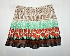 Attitude Brand Women's Multi Floral Cotton Day Skirt Size L BNWT #TM84