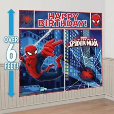 Ultimate Spiderman Birthday Scene Setter Large Photo Banner Party Decoration Kit