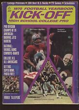 1970 Kick Off Football Yearbook VG+