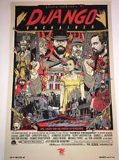 Tyler Stout Django Tarantino DiCaprio Mondo Movie Signed Poster Art Print
