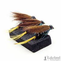3, 6 or 12x Connemara Black Wet Trout Flies for Fly Fishing