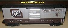 Wagon 40' Box Car CCA 3 rails échelle O MTH