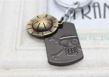 New Japanese Anime One Piece Luffy Straw Hat Skull Double Pendants Keychain