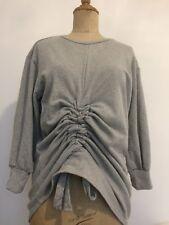 Grey Size 10 Sweatshirt Jumper Ladies Prettylittlething Rouched Top Unusual