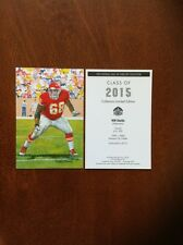 2015 Will Shields Chiefs unsigned Goal Line Art Card in Topload Plastic