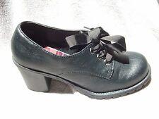 JELLYPOP-ARTEMUS-Womens-Black-Casual-Goth-Punk-Oxford-Heels-Shoe-7 M