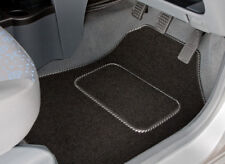 PEUGEOT 407 COUPE (2004-2010) TAILORED CAR MATS WITH SILVER STRIPE TRIM [1225]