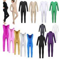 Girls Long Sleeve Ballet Dance Leotard Gymnastics Catsuit Bodysuits Dancewear