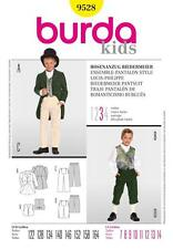 BURDA SEWING PATTERN KIDS Biedermeier Pantsuit TAILS JACKET & PANTS 7-14 9528