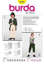 Burda Costura Patrón Kids Biedermeier Traje pantalón colas chaqueta y pantalones 7-14 9528