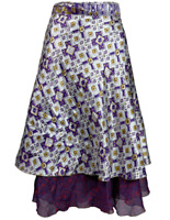 ISHKA | 100% Silk Wrap Skirt | 2 Layers | Made In India | BNWT | Size OSFA
