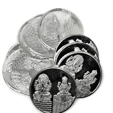 Ganesha Lakshmi / Laxmi Pure Silver (999) Ten Gram Coin (Set of Ten Coin)