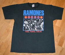 *1996 THE RAMONES* vtg rare punk-rock concert tour t-shirt (XL) 80's NYC CBGB's