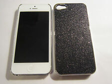 Black Glitter - iPhone SE 5S 5G 5 DIAMOND BLING Designer Glitter Full Back Case