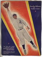 1937 Wheaties Cereal Box Panel, Baseball, Wally Moses, Philadelphia A's, Fair