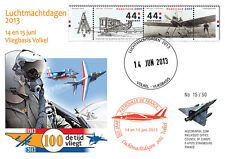 """PAF13-8T3 FDC NETHERLAND """"60 years French Patrol / ALPHAJET & MIRAGE 2000"""" 2013"""