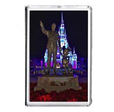 Disney Walt Disney and Mickey Mouse Statue 1 x Fridge Magnet 70mm x 45mm
