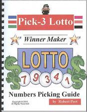 PICK 3 LOTTO WINNER MAKER 5TH EDITION BEST LOTTO WINNER MAKER BOOK