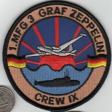 NATO German Navy Air Force Patch Aircraft Graf Zeppelin Ship Crew UBoat xwzf led