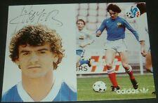 FOOTBALL CPA FRANCE 1982 ESPAÑA 82 ADIDAS FFF ROUYER DEDICACE RC STRASBOURG