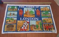 Vtg Blackstaff irish linen cotton tea towel Tower of London great graphics