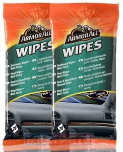 2 X Armorall Matt Dash Dashboard Wipes Citrus Fresh Scent 40 Wipes In Total