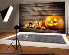 7x5ft Background Halloween Pumpkin Lantern Retro Wood Backdrop Photography Prop