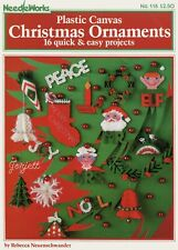 Christmas Ornaments ~ 16 Quick & Easy Projects plastic canvas pattern booklet