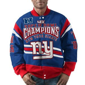 New York Giants G-III Extreme GLADIATOR Commemorative Cotton Twill Jacket