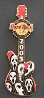 Hard Rock Cafe Pin Pittsburgh  HALLOWEEN Scream Mask Guitar movie hat lapel logo