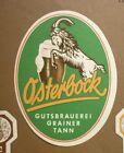 1950s GERMAN BEER LABEL BIERETIKETTEN, GUTSBRAUEREI GRAINER TANN GERMANY, BOCK 2