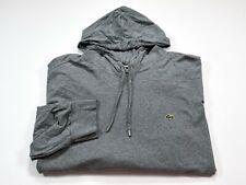 Lacoste 3XLB Men's Gray Long Sleeve Cotton Hoodie 3XL Big XXXL