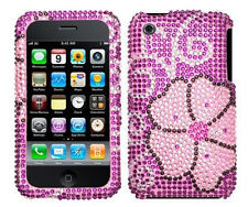 Pink Blooming Bling Case Cover for Apple iPhone 3G 3GS