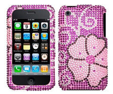 Rosa blühende Bling Case Cover für Apple iPhone 3G 3GS