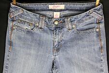 Candies Blue Jeans 5 Stretch Juniors Distressed Faded Spandex Embroidered Denim