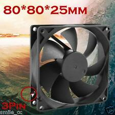 Quiet 8cm/80mm/80x80x25mm 12V Computer/PC/CPU Silent Low Noise Cooling Case Fan