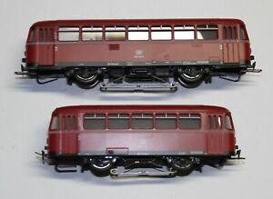 Märklin H0 3016 + 4018 Schienenbus mit Beiwagen, sehr guter Zustand, analog AC