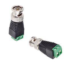 5 PCS BNC Male CAT5 CCTV Video Adapter Coaxial Coax Balun Camera TV Connector