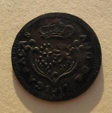 1817 Venezuela CARACAS 1/4 Real Copper Coin C#2 Royalists Ferdinand VII SCARCE