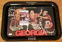 Vince Dooley Signed Tray 1981 Georgia Bulldogs Limited Edition JSA COA