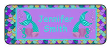 30 personalized mermaid name tag stickers, tags, school supply labels