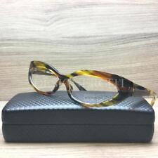 Alain Mikli AL1237 Eyeglasses Yellow Green Brown Striped 2986 Authentic 55mm