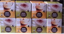 128 x DOLCE GUSTO COFFEE PODS - 4 X LATTE & 4 X CAPPUCCINO